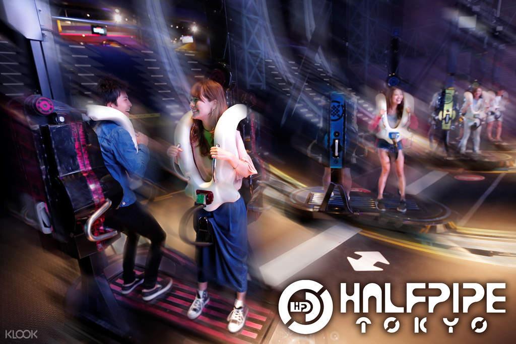 halfpipe ride in tokyo joypolis